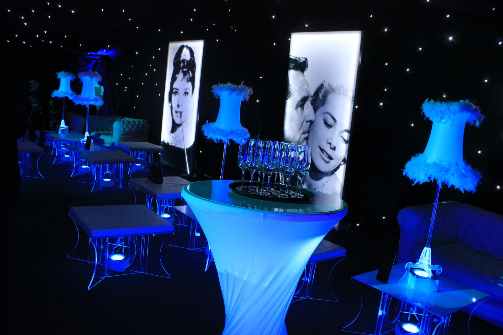Check out our hollywood themed mobile bar for this event for 007 decoration ideas