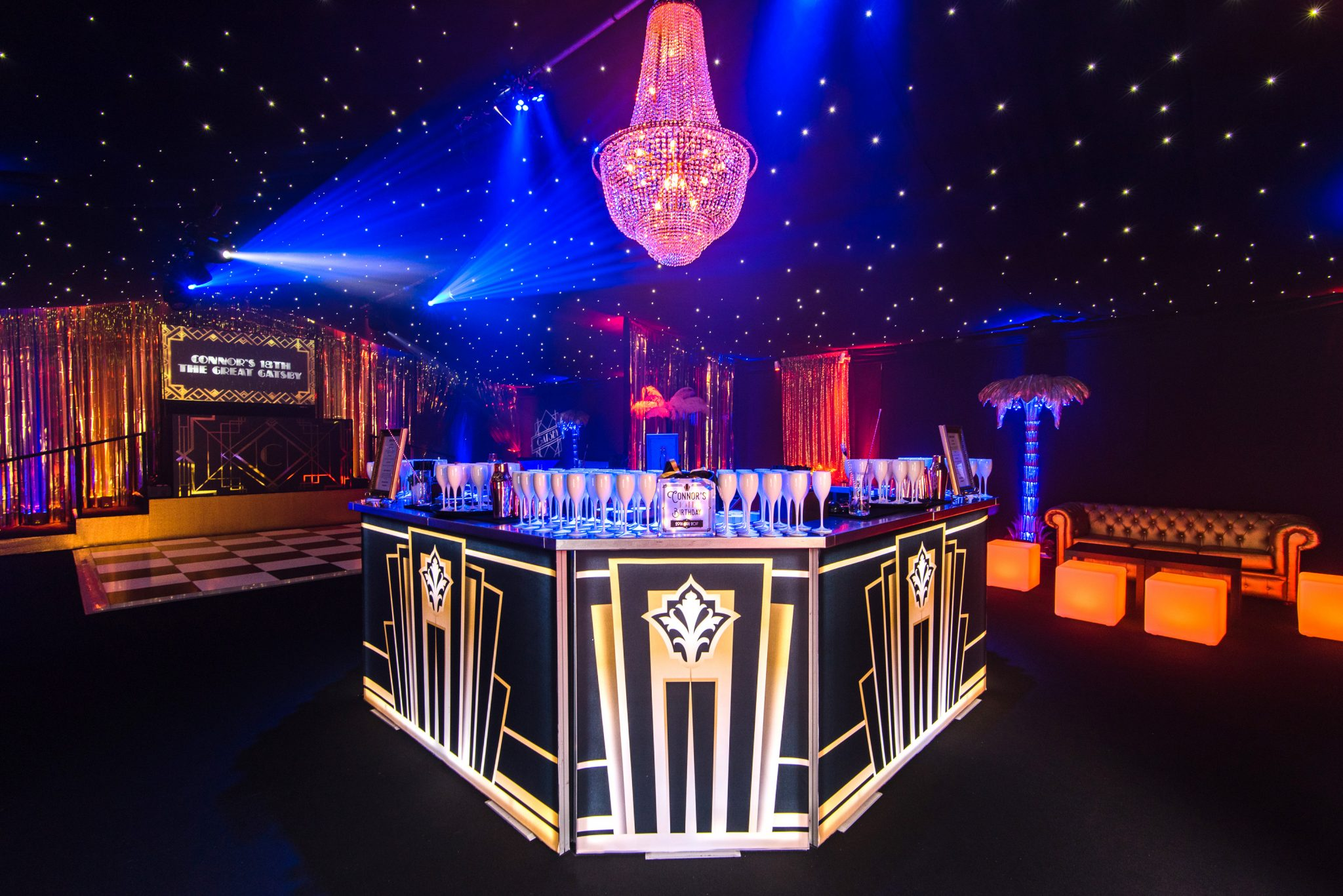 Discover our 1920s Island Bar for a Great Gatsby Themed