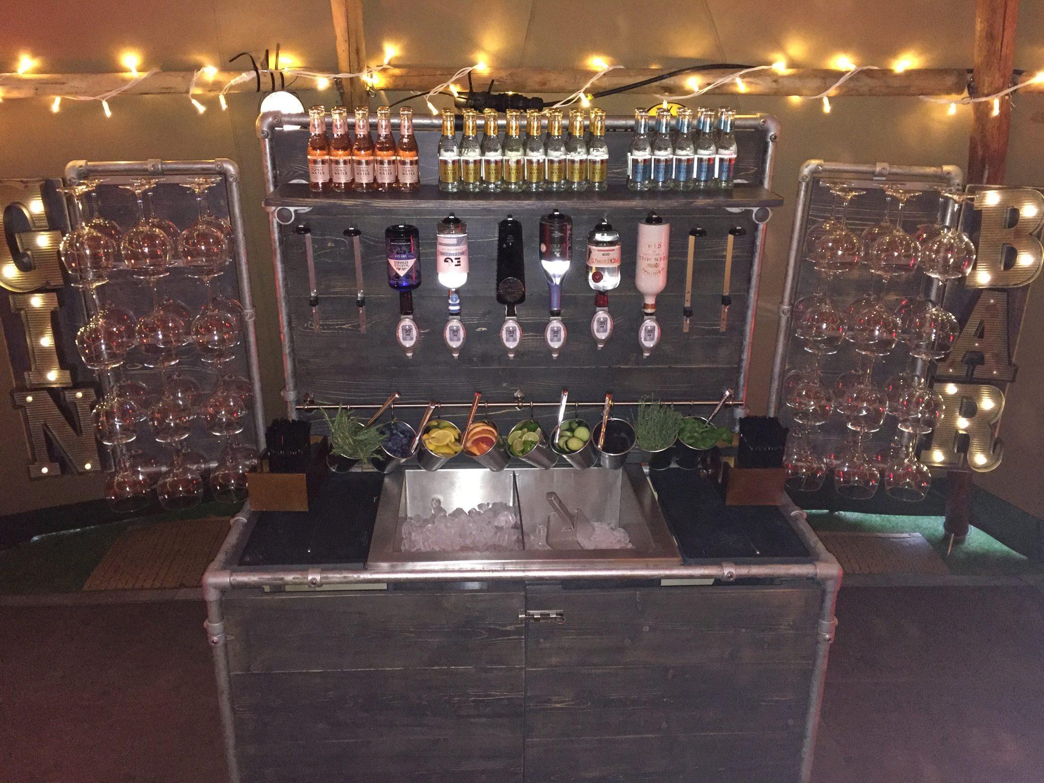 portable gin bar