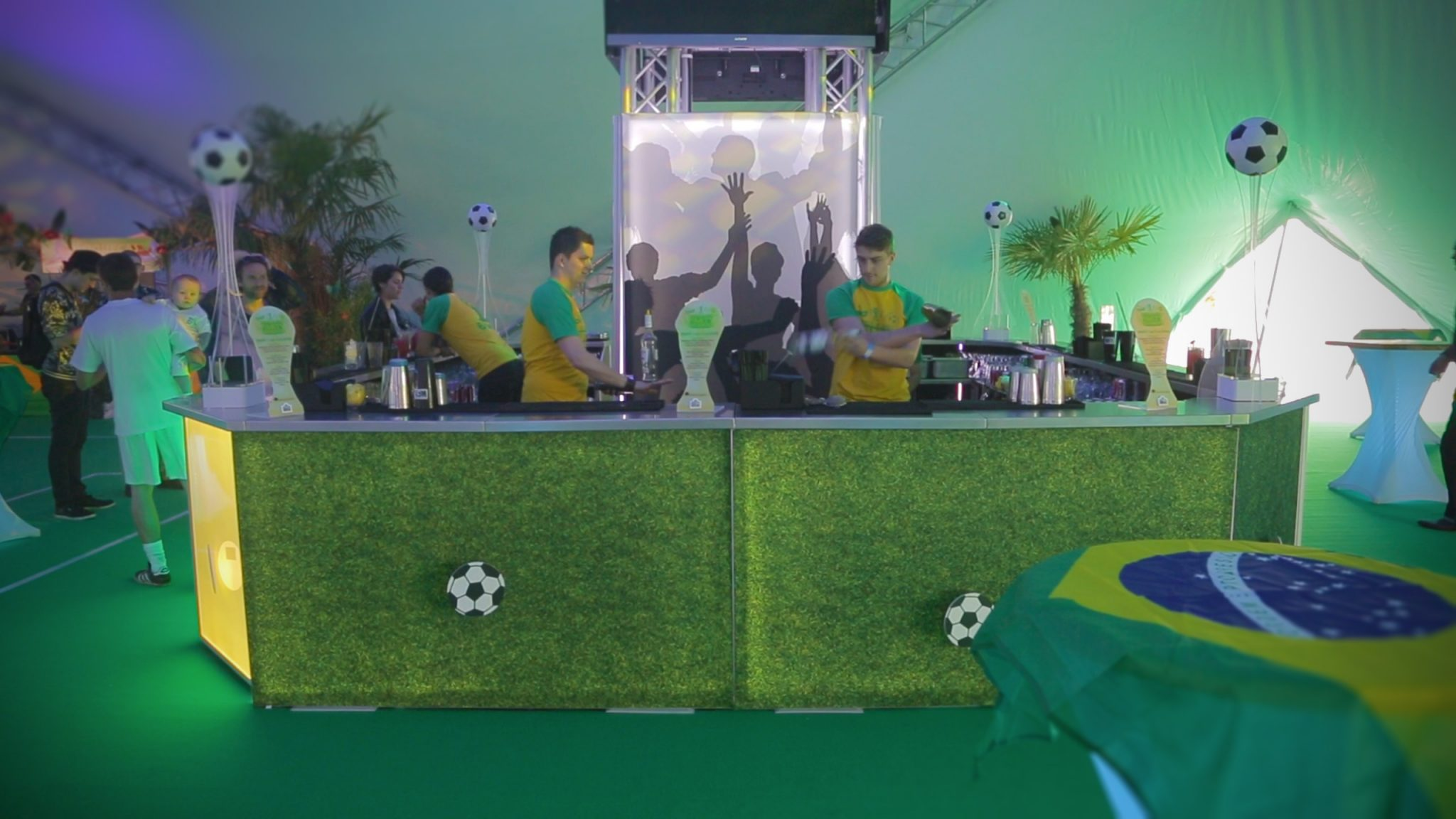world cup themed mobile bar