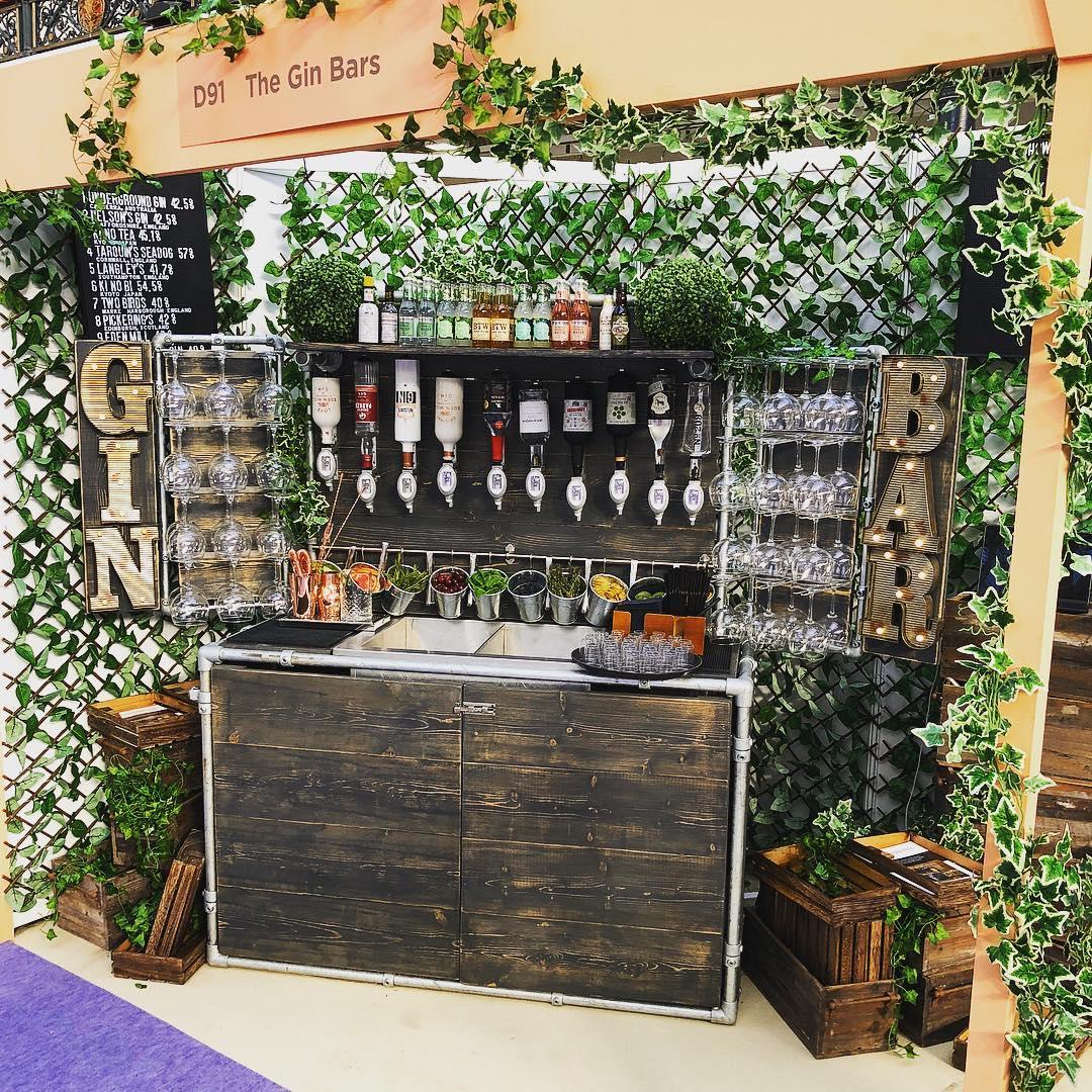 gin bar for weddings
