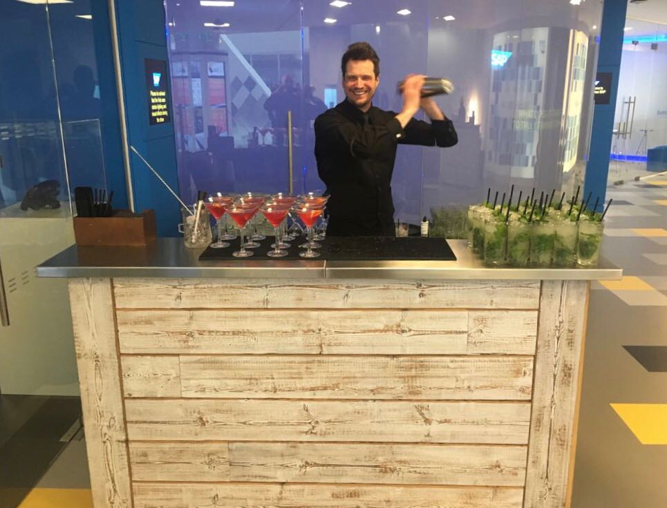 Our Craft Wood Mobile Bar Hire Called Into Action For Sap Se