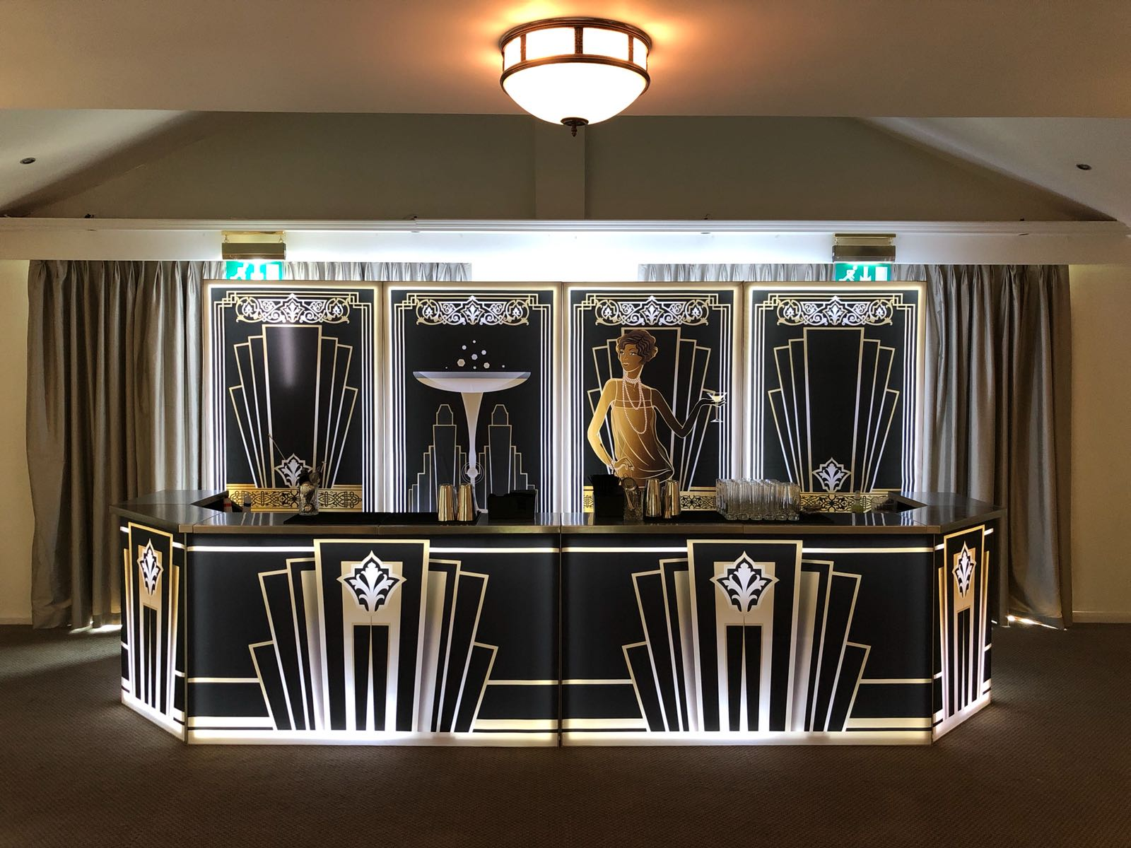 Gatsby themed bar