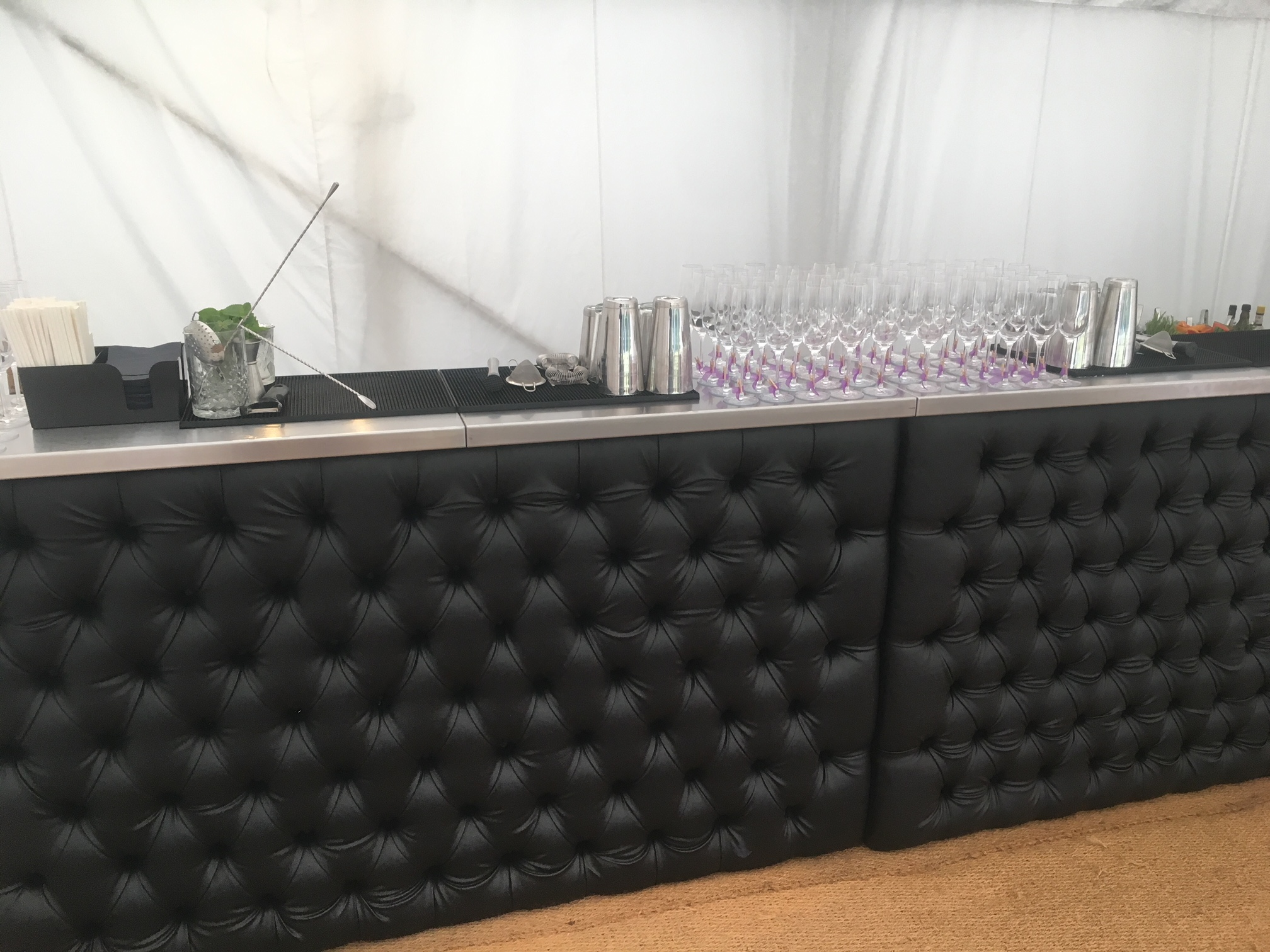leather mobile bar