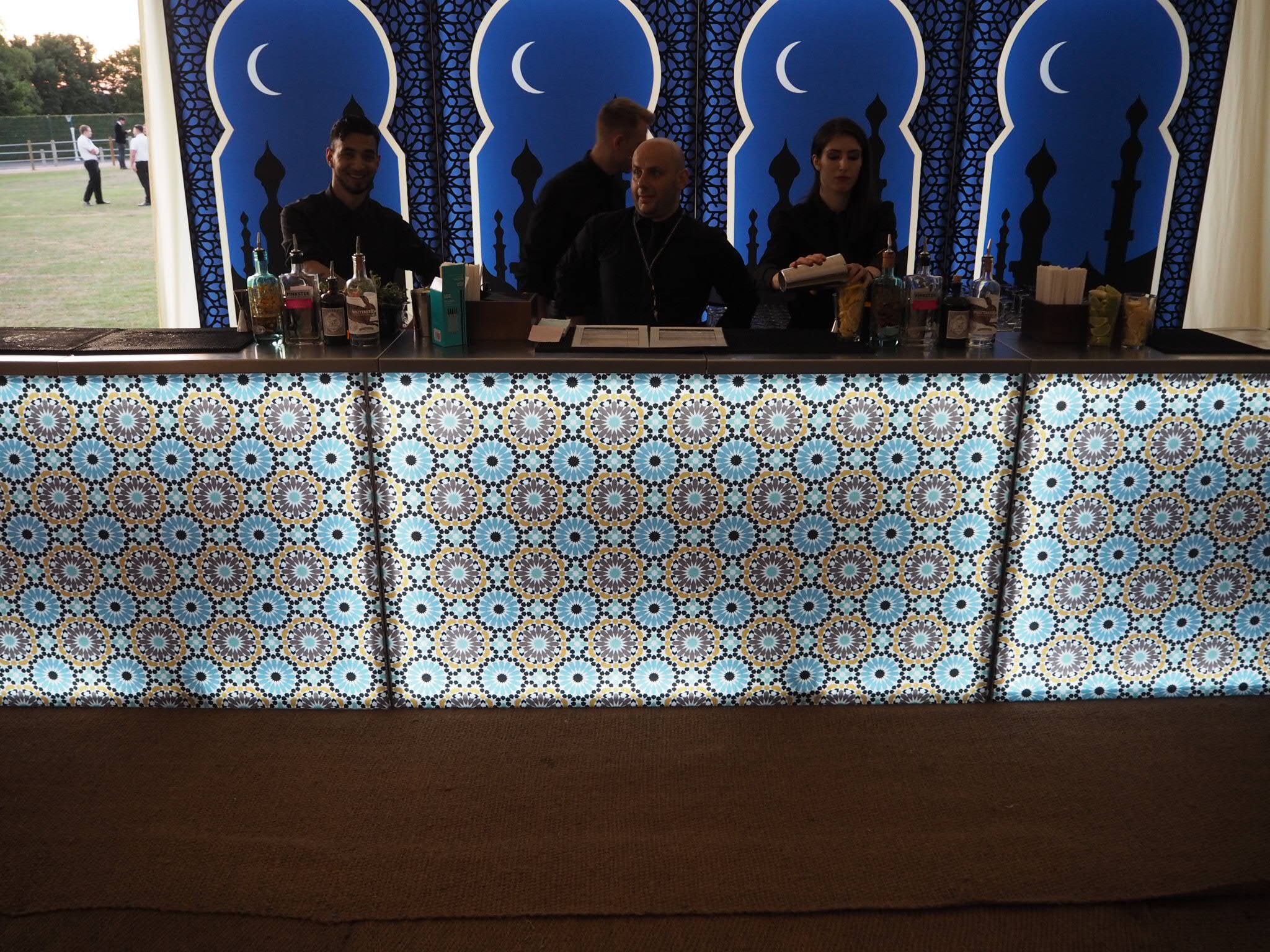 Moroccan themed mobile bar