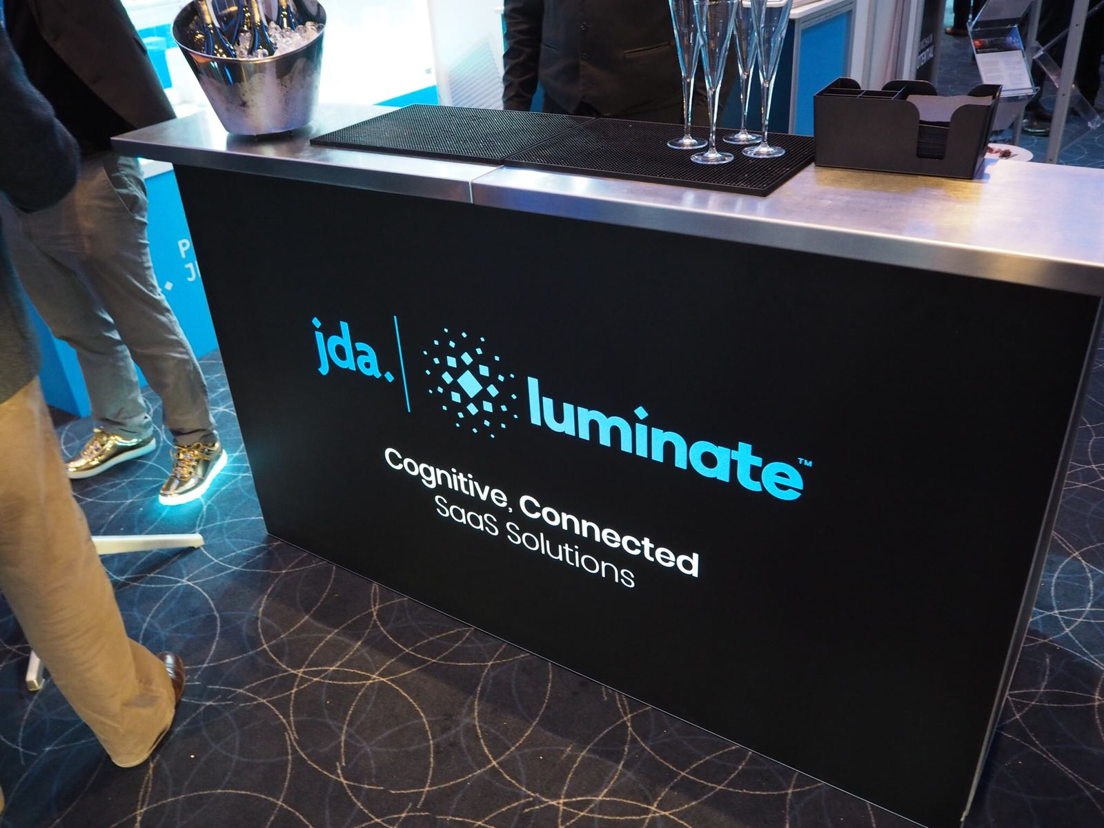 branded mobile bar for event