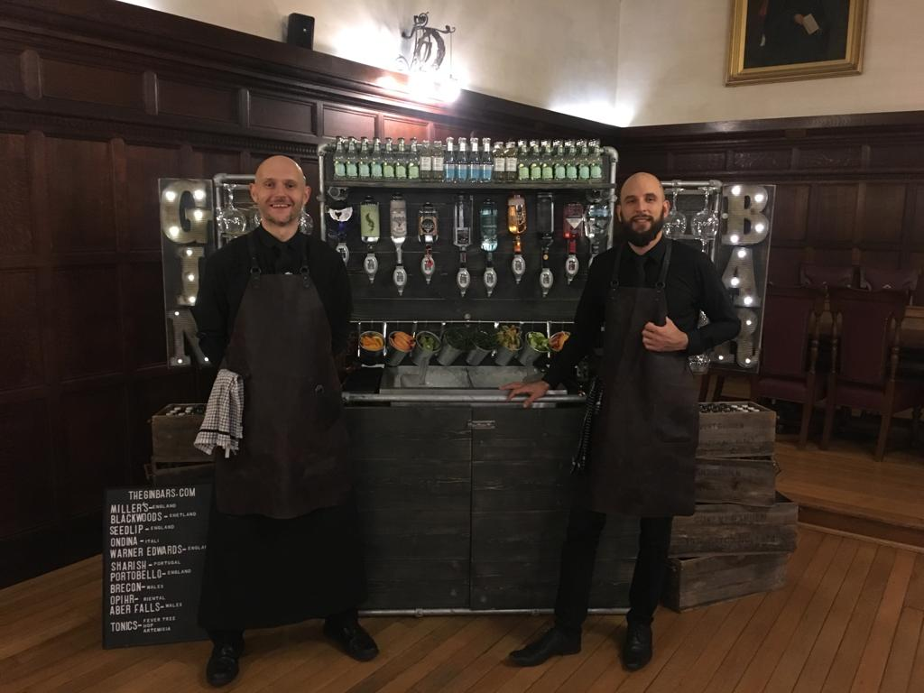 mobile gin bar for events