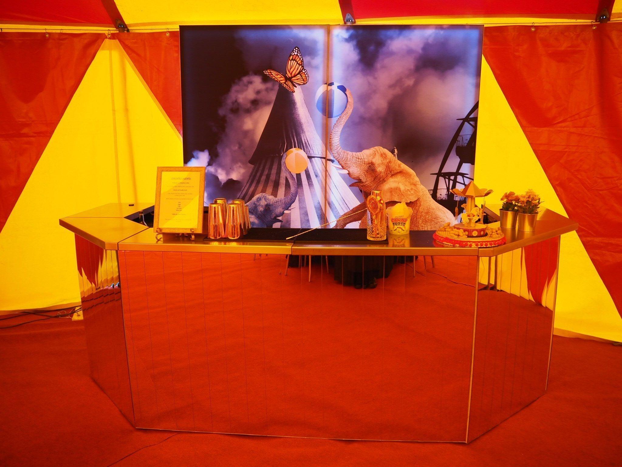circus themed mobile bar