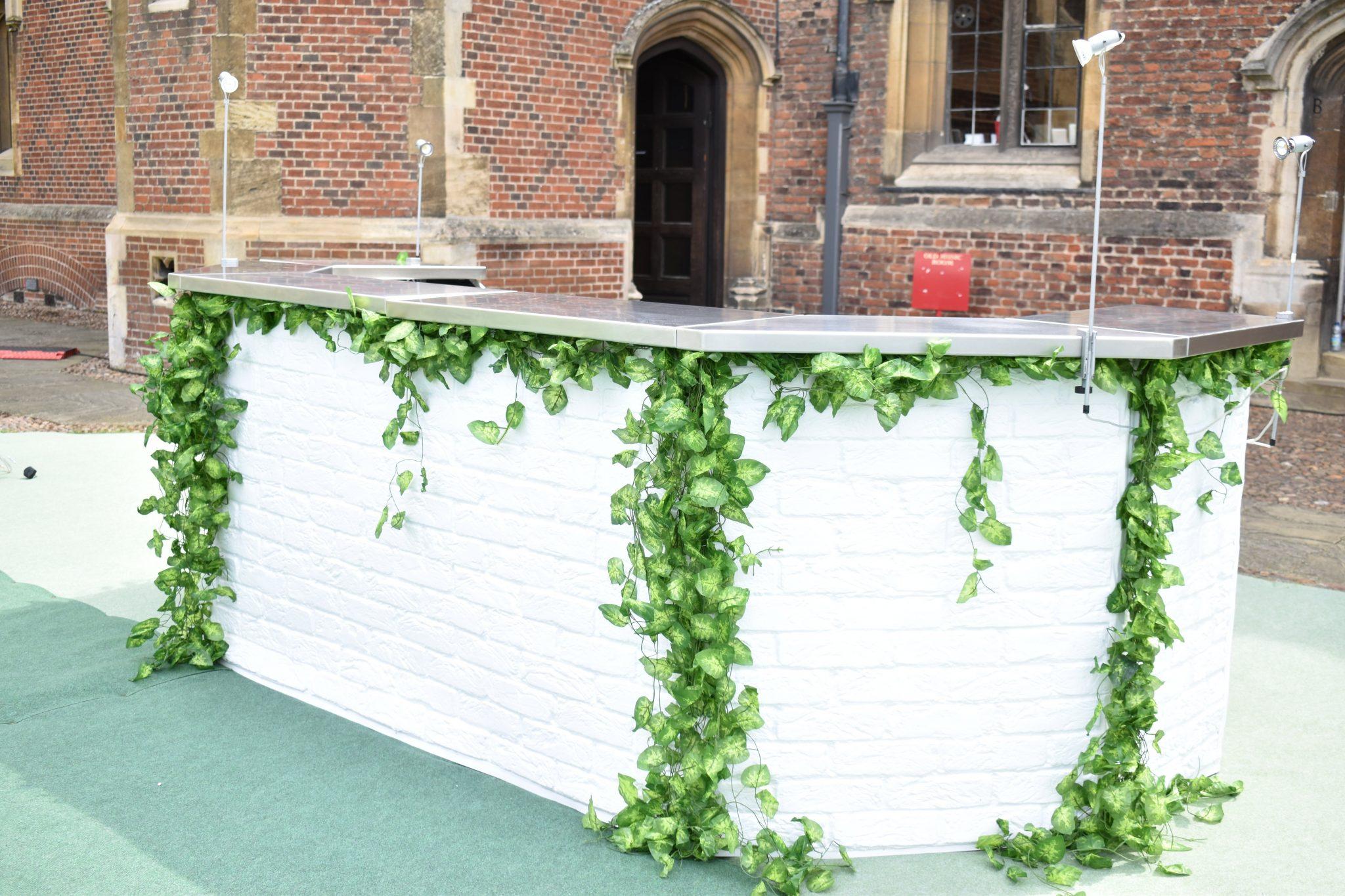 garden themed mobile bar hire