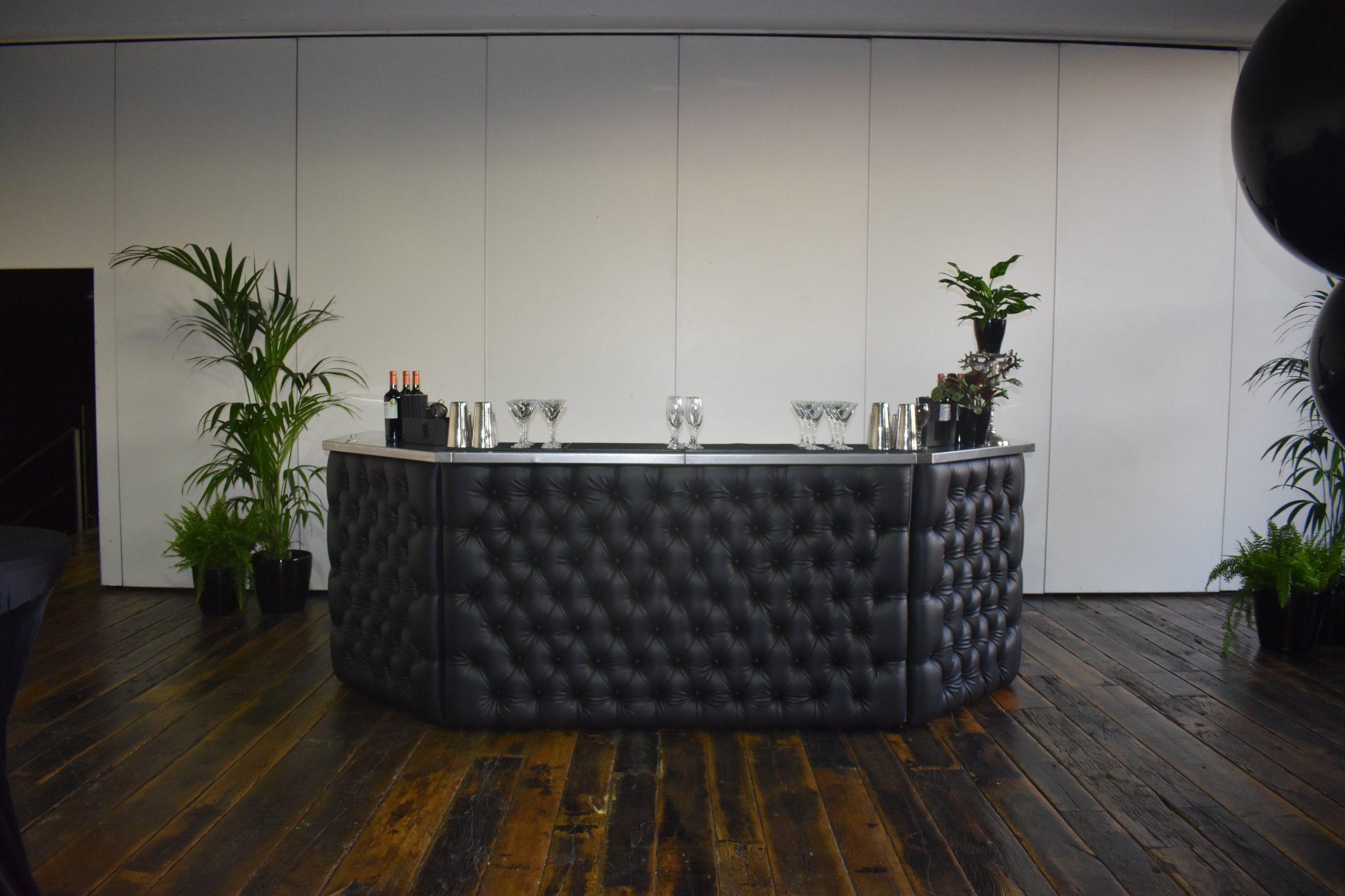 semi-circle mobile bar hire