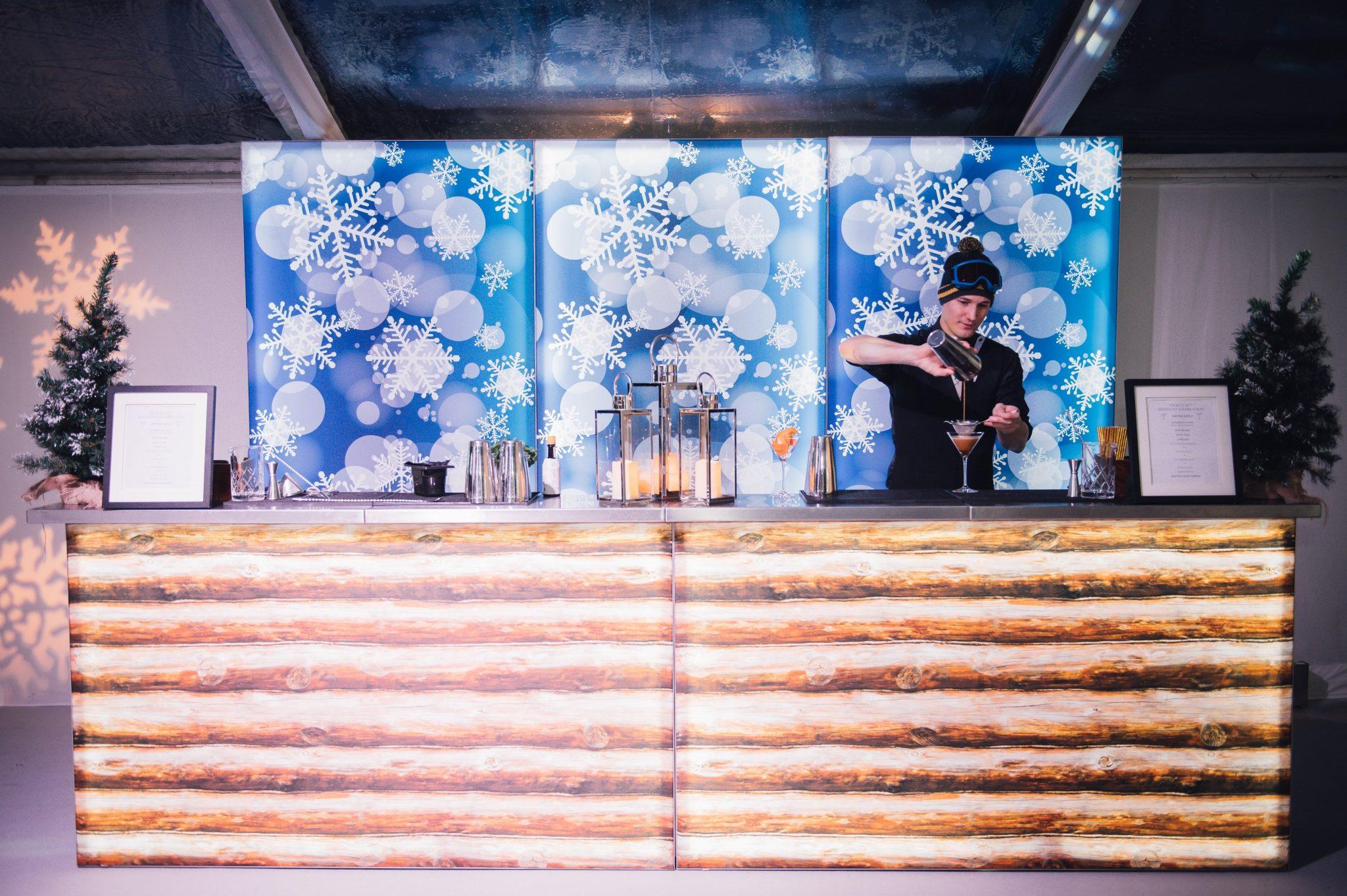 alpine chic themed bar