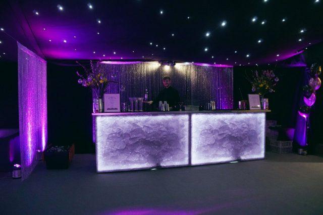 purple mobile bar hire